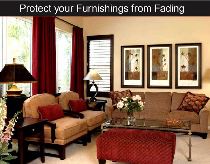 prevent fading of furniture with  window film